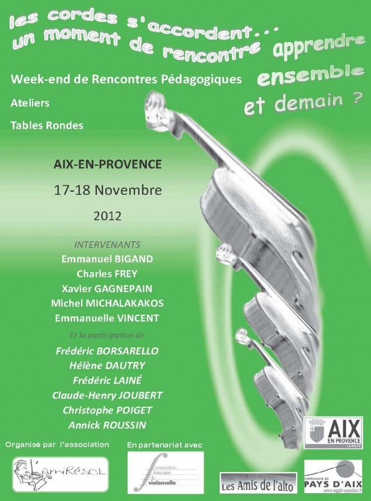 Colloque à Aix en Provence